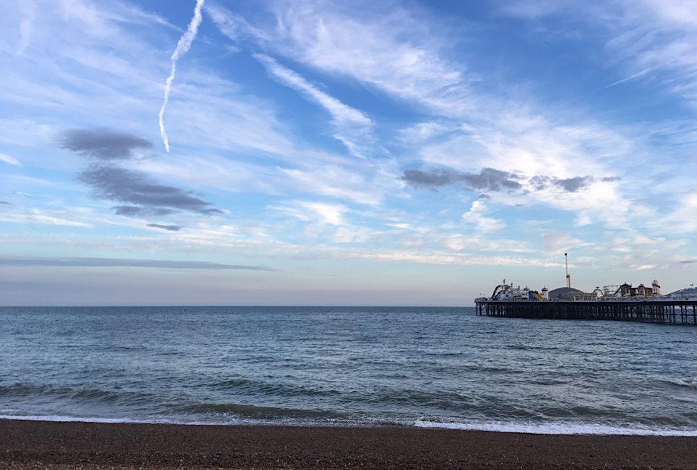 Auf der Fähre von Calais nach DoverAm Strand von Brighton mit Blick auf den Pier